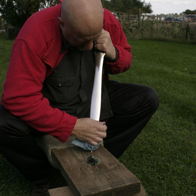 Bronze sword casting