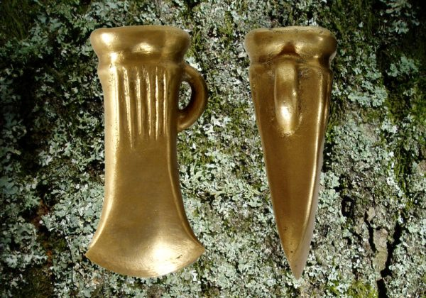 Bronze socketed axe from different angles